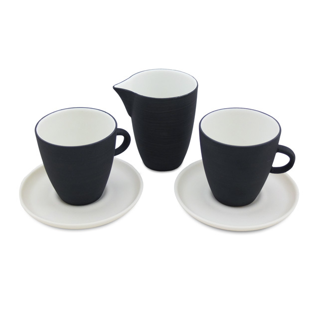 """Espresso Set """"Muted"""" mit Milchkännchen"""