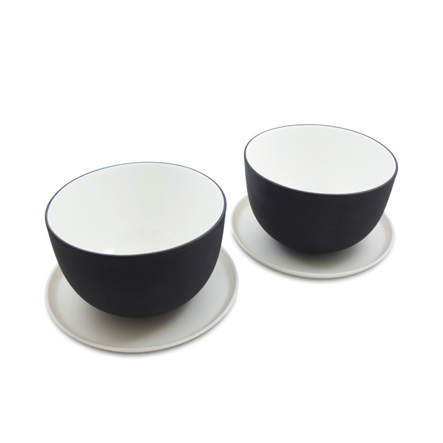 """Teeschüssel Set """"Muted"""" mit Untertellern"""