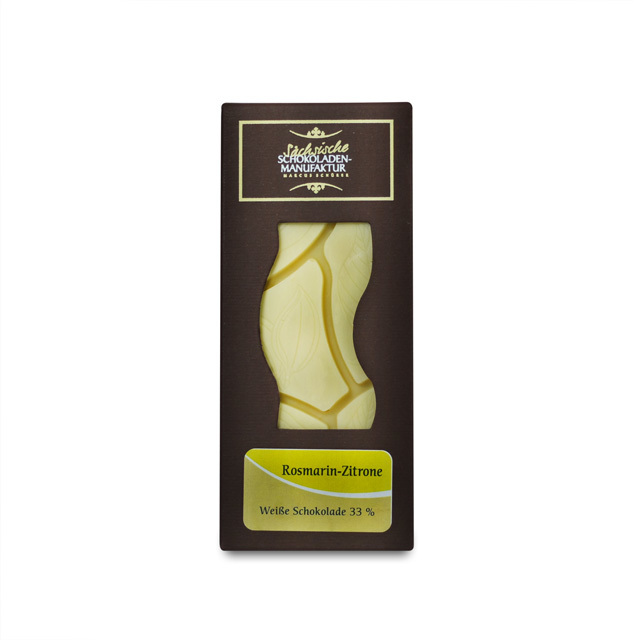 Rosmarin-Zitrone mit weißer Schokolade