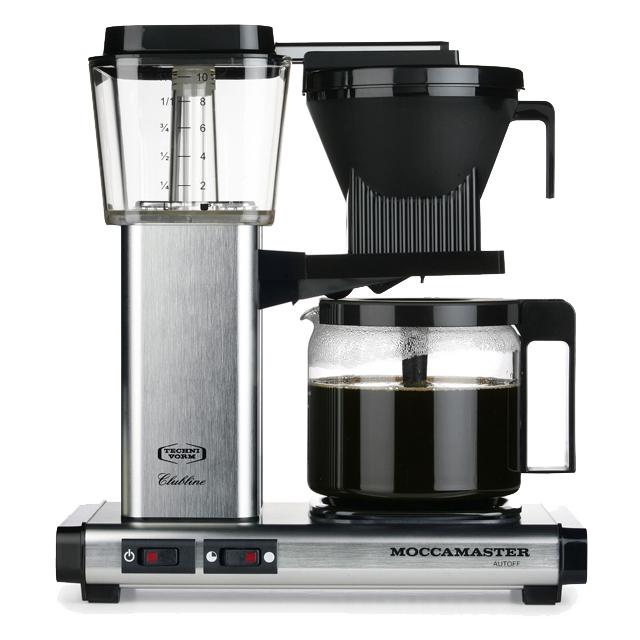 Kaffeemaschine Moccamaster Aluminium gebürstet