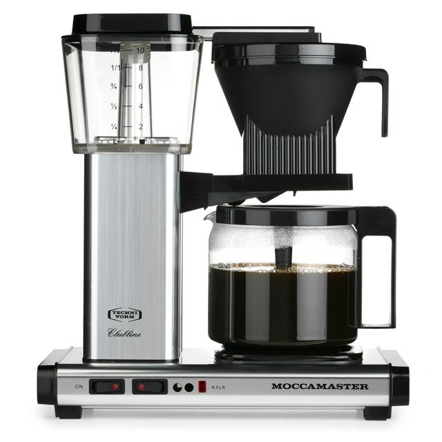 Kaffeemaschine Moccamaster Aluminium poliert