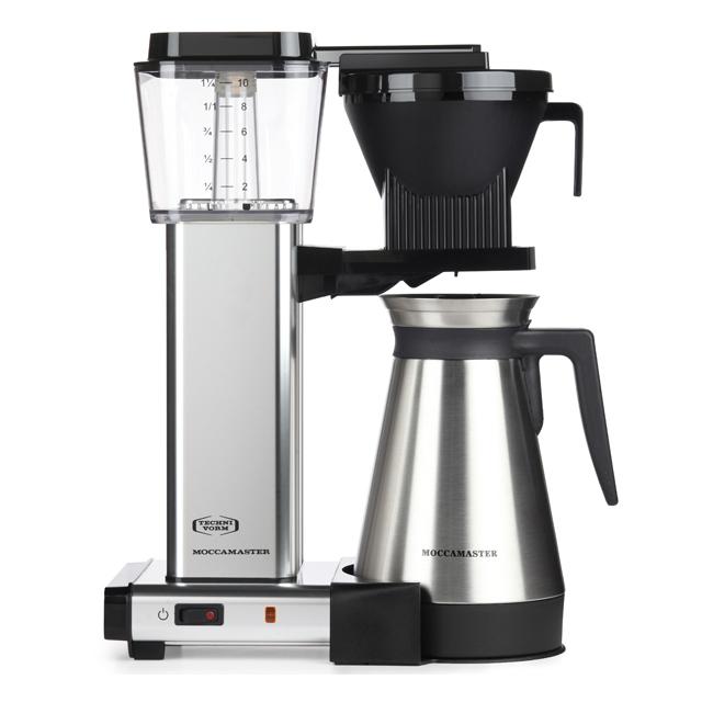 Kaffeemaschine Moccamaster Thermokanne Aluminium Poliert