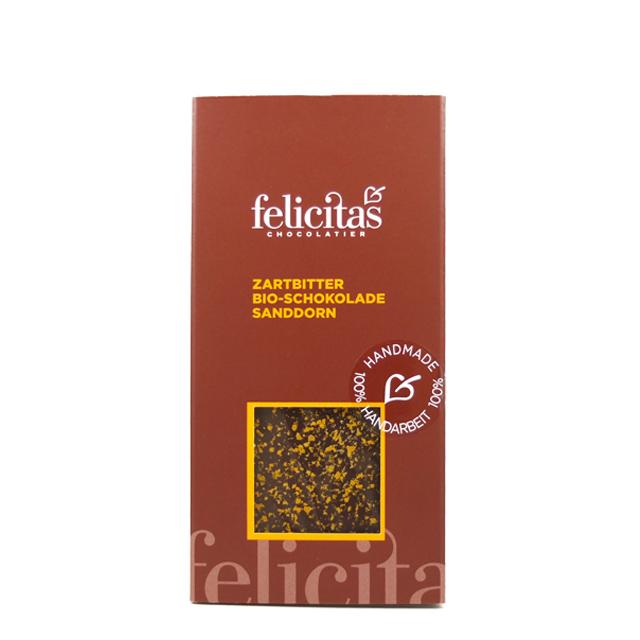Zartbitter Bio - Schokolade Sanddorn